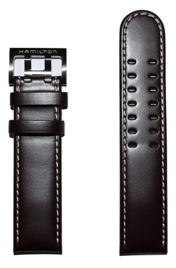 Hamilton Khaki Field 22mm Brown Leather Watch Band