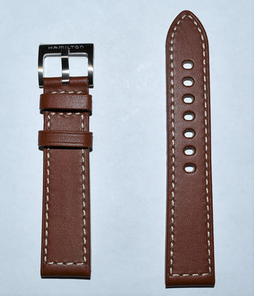 Hamilton Khaki Field 20mm Brown Leather Watch Band