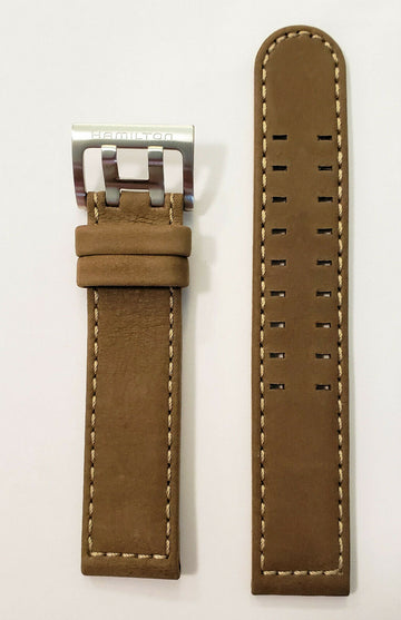 Hamilton 20mm H705050 / H685510 Brown Leather Watch Band