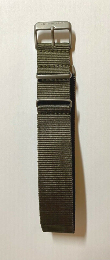 Hamilton Khaki 22mm H764560 Nato Green Watch Band