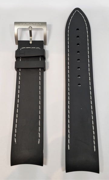 Hamilton Khaki 21mm Black Rubber Watch Band