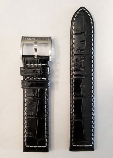 Hamilton Khaki H776151 Black Leather Watch Band