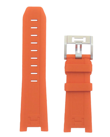 Hamilton Khaki Navy SUB H78615985 Orange Rubber Band