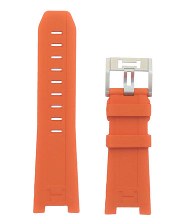 Hamilton Khaki Navy SUB H786150 Orange Rubber Strap