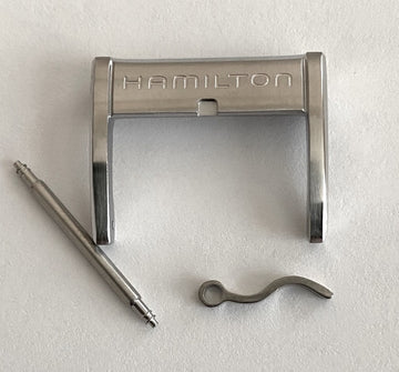 Hamilton 20mm Steel Silver Buckle Clasp - WATCHBAND EXPERT