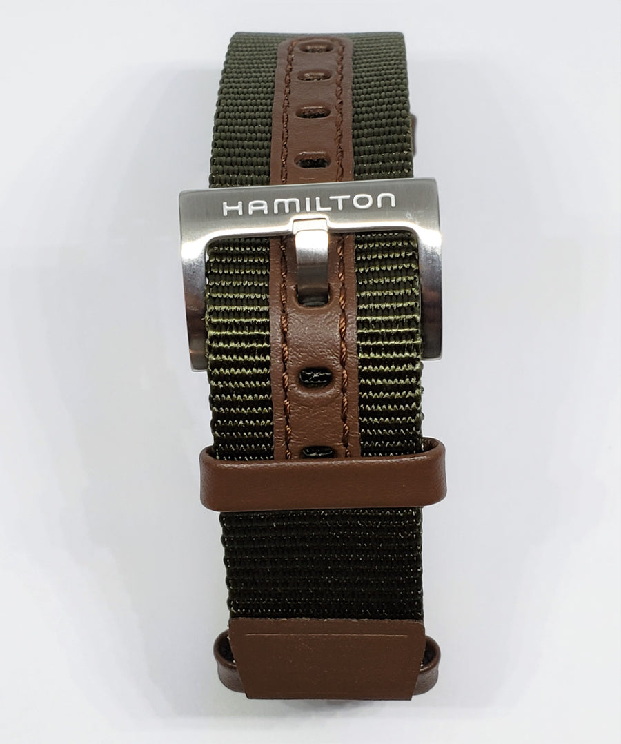 Hamilton Khaki Field 20mm Nato Green Canvas Watch Band - WATCHBAND EXPERT
