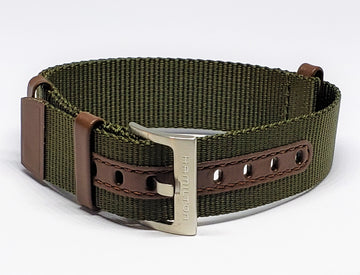Hamilton Khaki Field 20mm Nato Green Canvas Watch Band