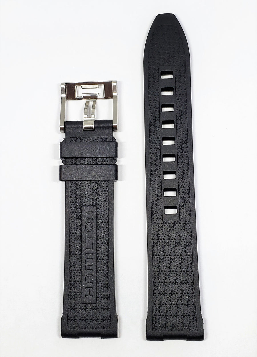 Hamilton Khaki Scuba 20mm Black Rubber Watch Band H823350 - WATCHBAND EXPERT
