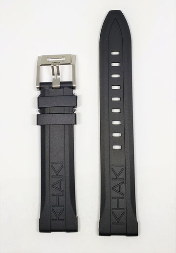 Hamilton Khaki Scuba 20mm Black Rubber Watch Band H823050