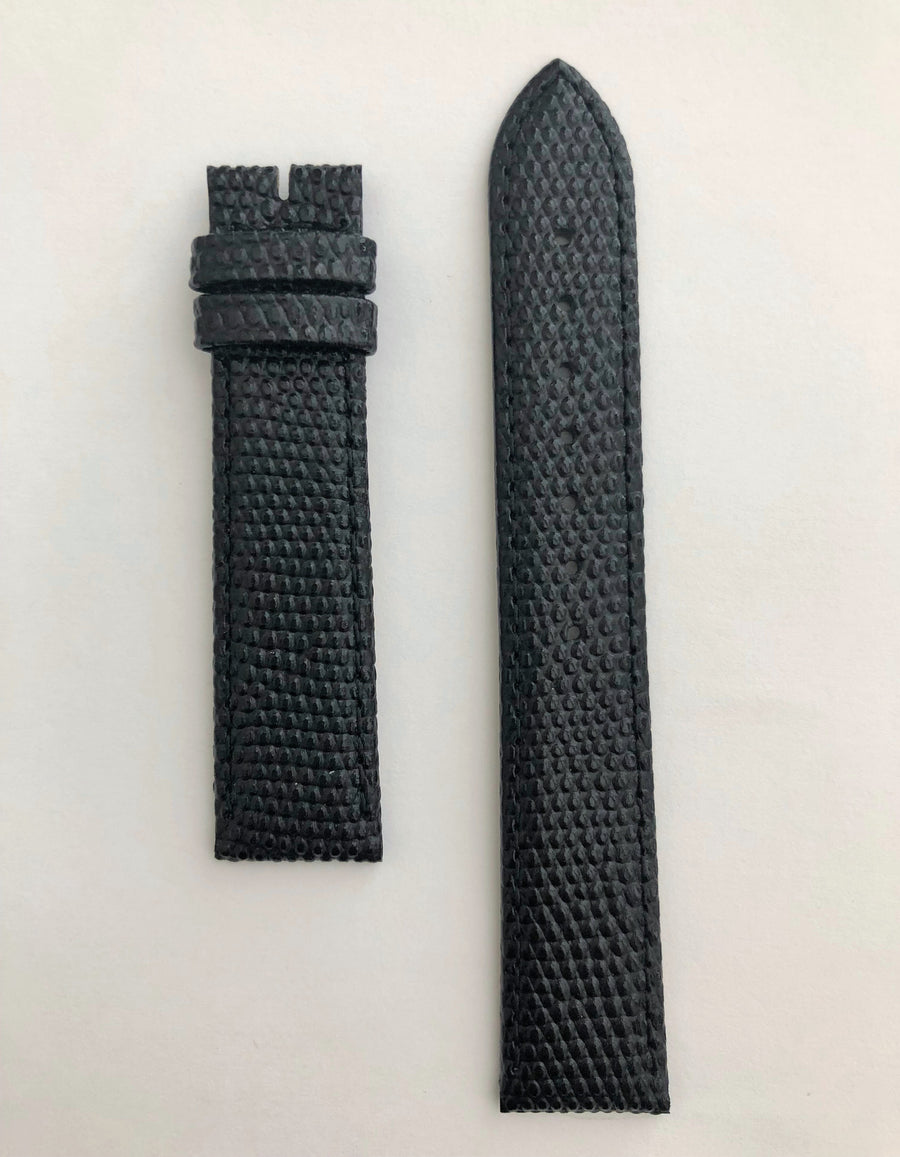 Longines 18mm Black Leather Watch Band L682100678