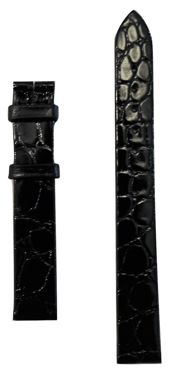 Longines 13mm Black Alligator Leather Watch Band L682111475