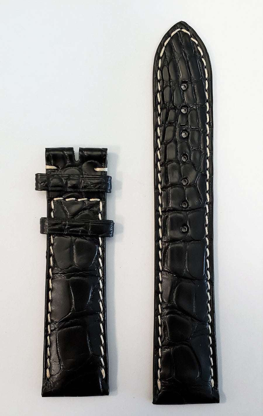 Longines 20mm Black Alligator Leather Watch Band L682120102