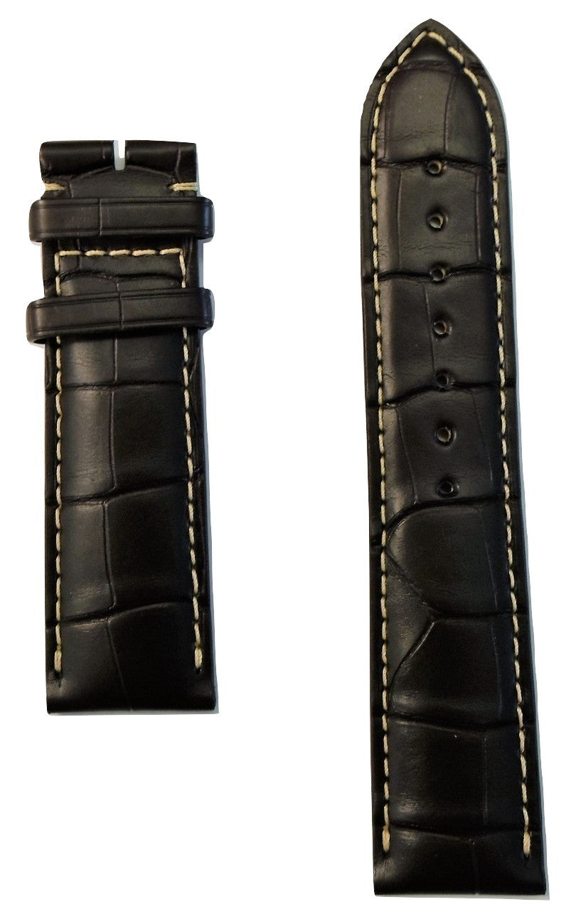 Longines 22mm Brown Alligator Leather Watch Band L682120161 - WATCHBAND EXPERT