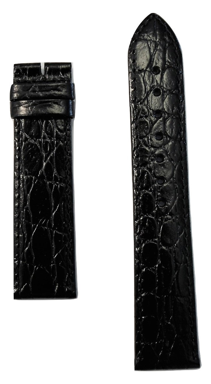 Longines 20mm Black Leather Watch Band L682122618 - WATCHBAND EXPERT