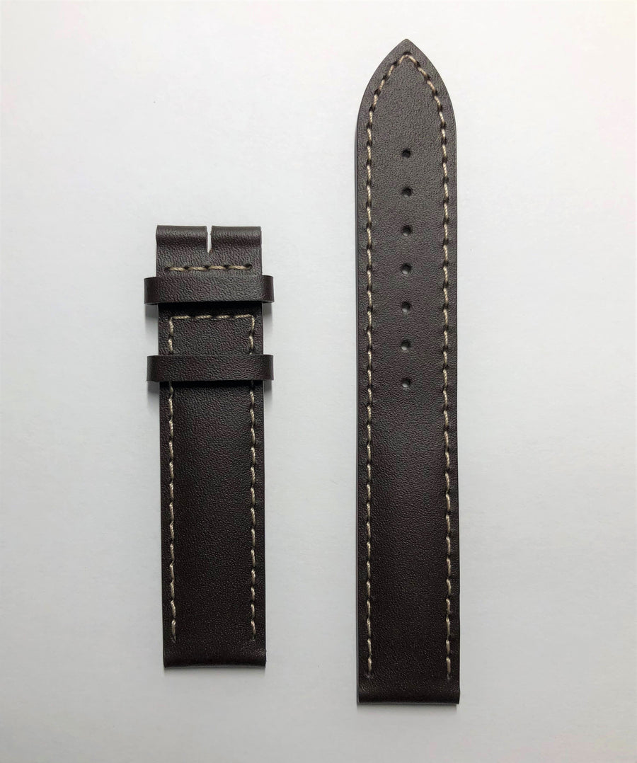 Longines 16mm Brown Leather Watch Band L682145808