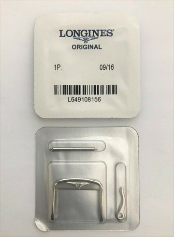 Longines 20mm Silver Clasp Buckle For Leather Watch Bands - WATCHBAND EXPERT