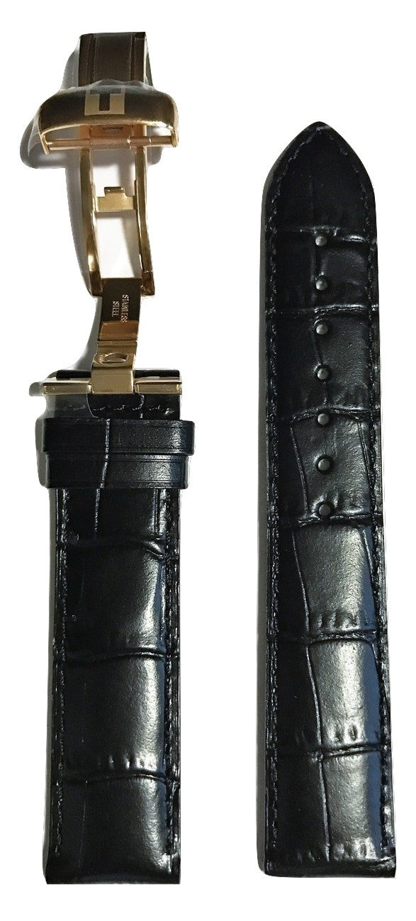 Tissot Le Locle Black Leather 19mm Band w/ Buckle for T415423, T006428 - WATCHBAND EXPERT