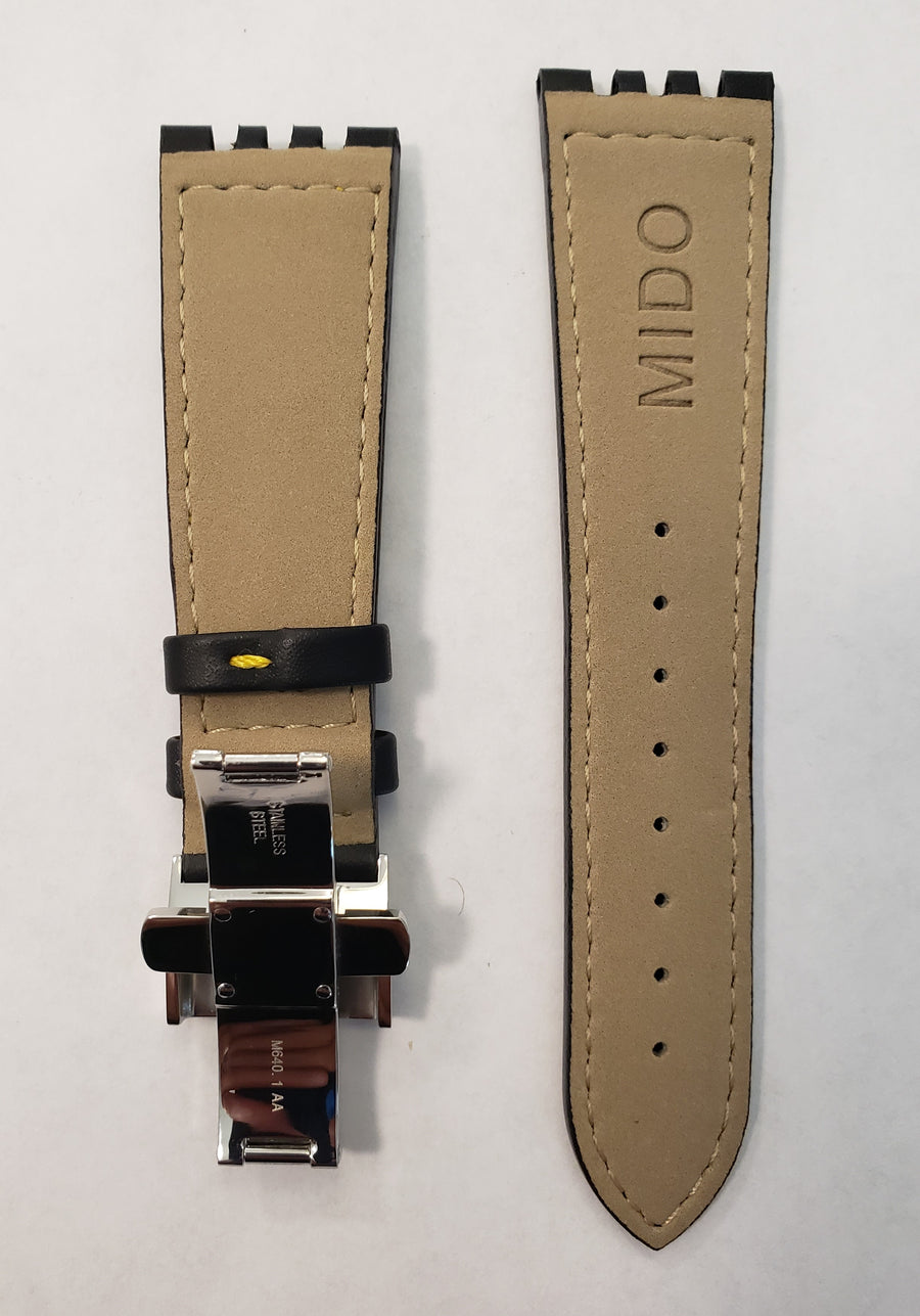 Mido All Dial 8341 Black Leather Watch Band