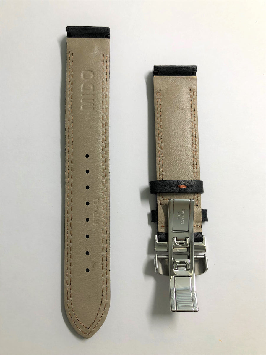 MIDO Ocean Star Model 8730 Black Leather Watch Band - WATCHBAND EXPERT