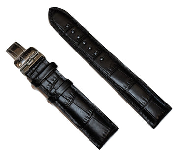 MIDO M016430A / M021431A Black Leather 21mm Band Strap - WATCHBAND EXPERT