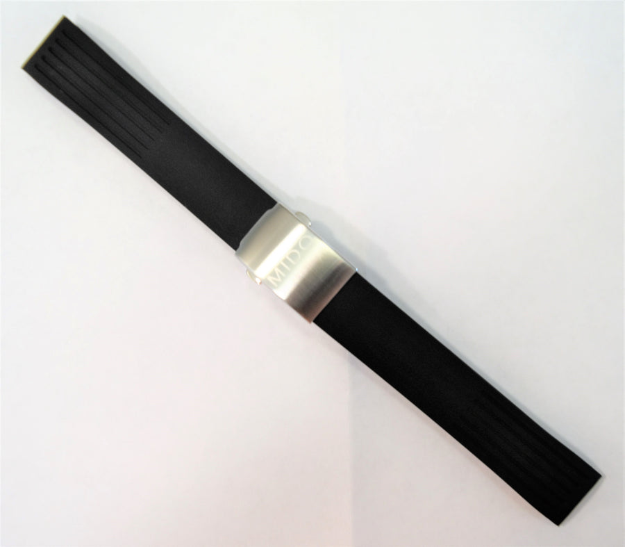 MIDO Ocean Star Model 4735 Black Rubber Watch Band