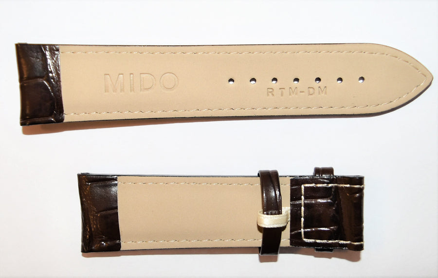 Mido Multifort M005417A 22mm Brown Leather Band Strap