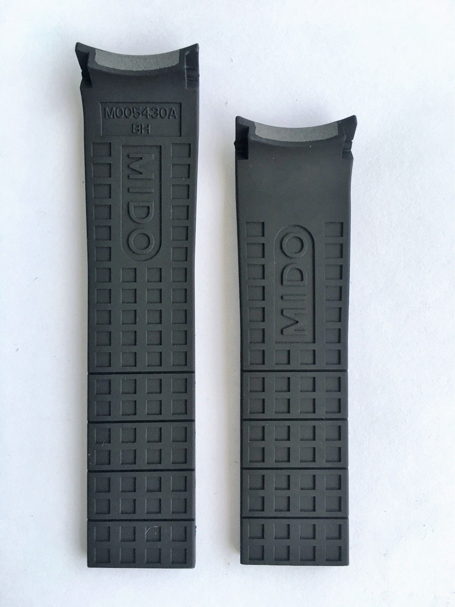 MIDO Multifort Black Rubber 22mm Band Strap for Model: M018430A
