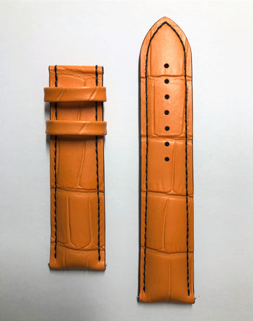 MIDO Multifort 22mm M005430A Orange Leather Watch Band - WATCHBAND EXPERT