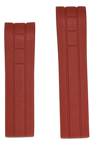 MIDO Multifort 22mm Red Rubber Band Strap for Model: M005417A - WATCHBAND EXPERT