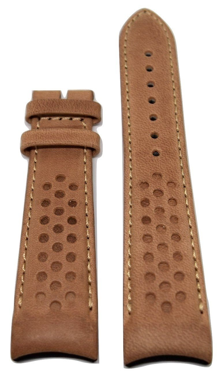 MIDO Multifort 22mm Brown Leather Band Strap For Model: M025407A - WATCHBAND EXPERT