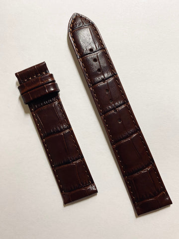 Mido Baroncelli 20mm Brown Leather Band Strap M8600 / M8608 - WATCHBAND EXPERT