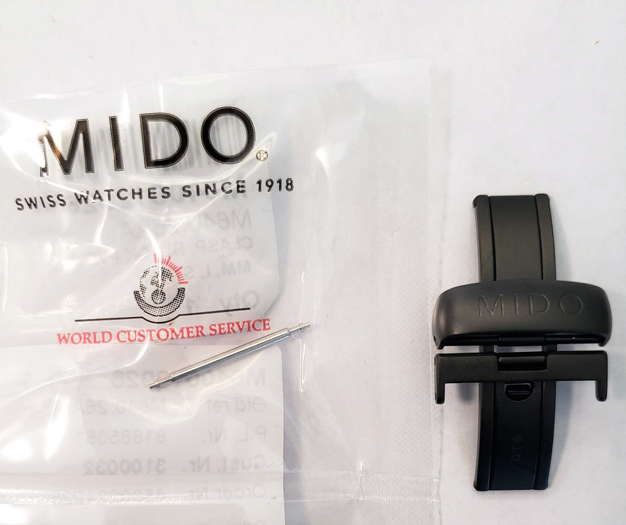 MIDO Multifort M640.26AA Black PVD Clasp Buckle - WATCHBAND EXPERT