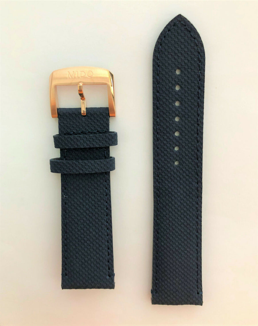 MIDO Ocean Star M026430A Blue Synthetic Leather Watch Band
