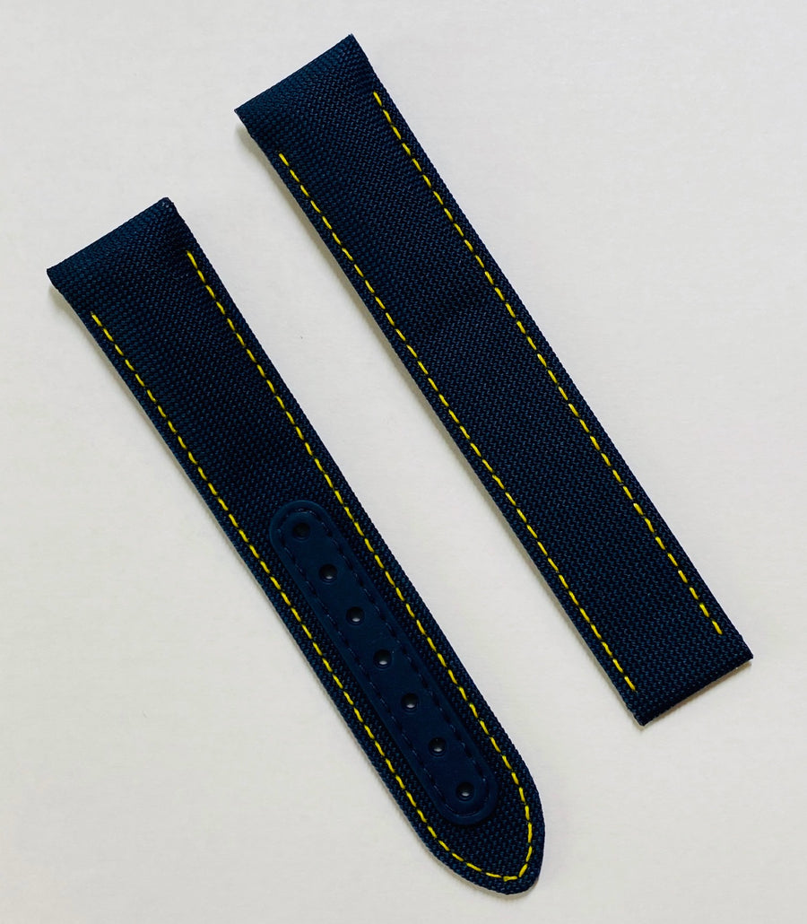 Omega Seamaster 20mm Blue / Yellow Reinforced Fabric Band Strap