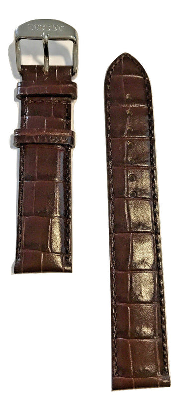 Tissot PR 100 Brown Leather 19mm Strap Band for back-case T049417 - WATCHBAND EXPERT