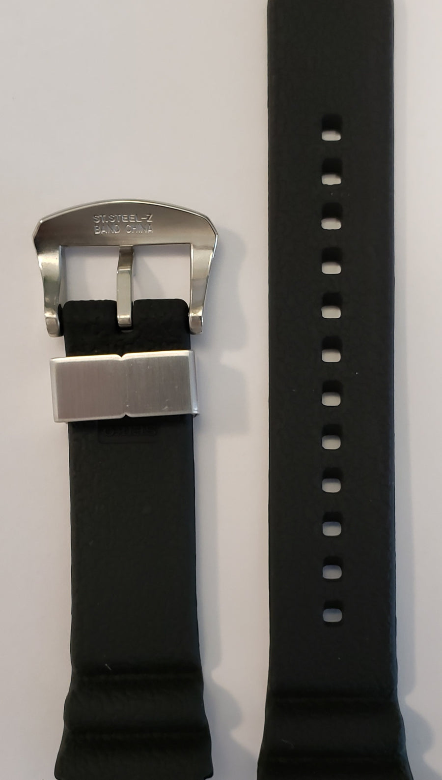 SEIKO Diver 22mm SRP775 Black Rubber Watch Band