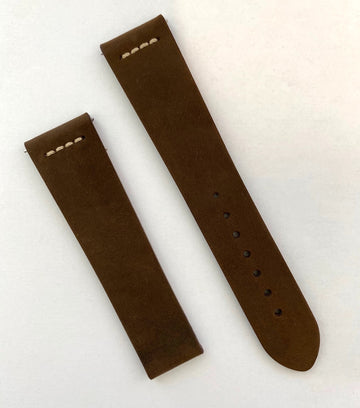 RADO Captain Cook Brown Leather Watch Band Strap