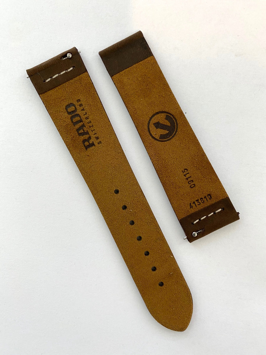 RADO Captain Cook Brown Leather Watch Band Strap - WATCHBAND EXPERT