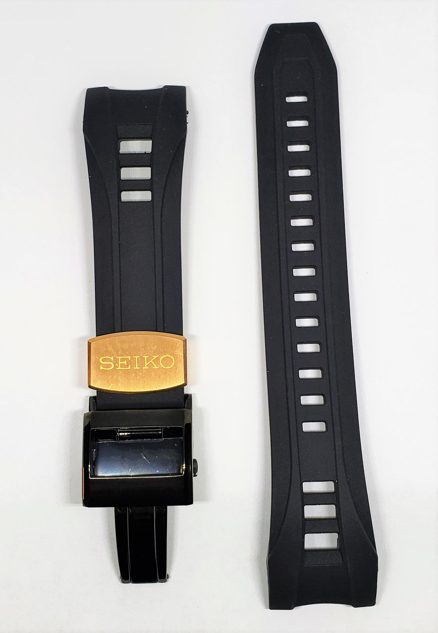 Seiko Astron SAST001 Black Rubber Watch Band