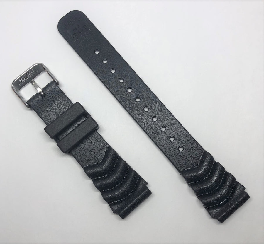 Seiko Diver 20mm SNE109 Black Rubber Band Strap - WATCHBAND EXPERT