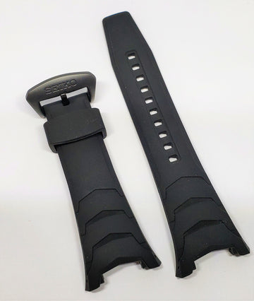 Seiko Coutura SSC697 / SSC697P Black Rubber Watch Band - WATCHBAND EXPERT