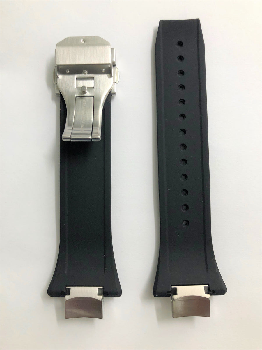 Seiko Astron SSE167 / SSE167J Black Rubber Watch Band - WATCHBAND EXPERT