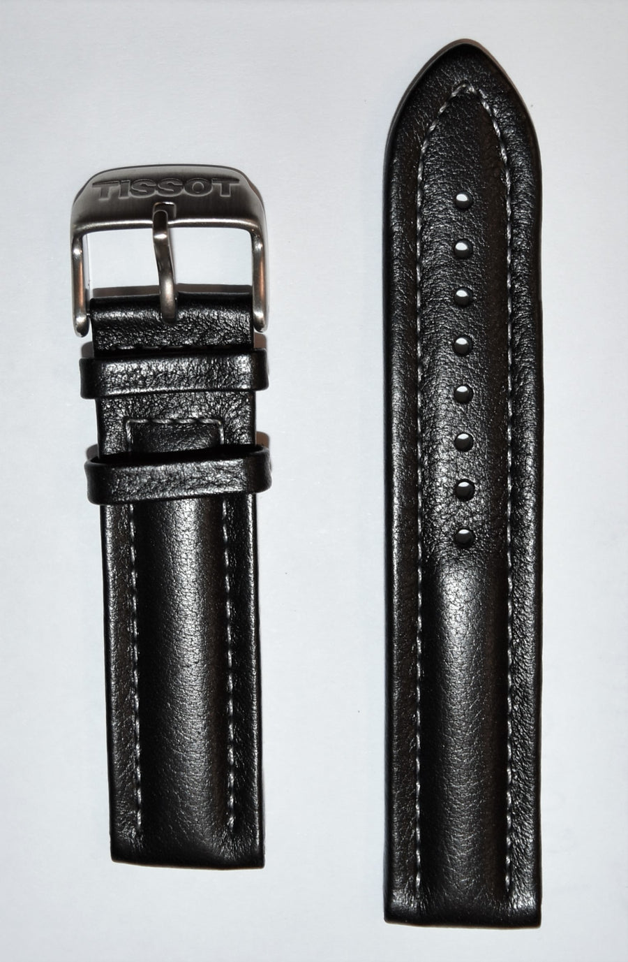 Tissot V8 T36172652 20mm Black Leather Watch Band