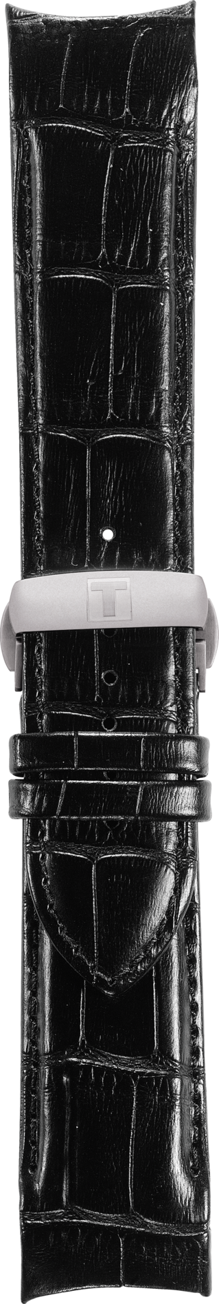 Tissot Couturier 24mm (Longer Size) Black Leather Watch Band