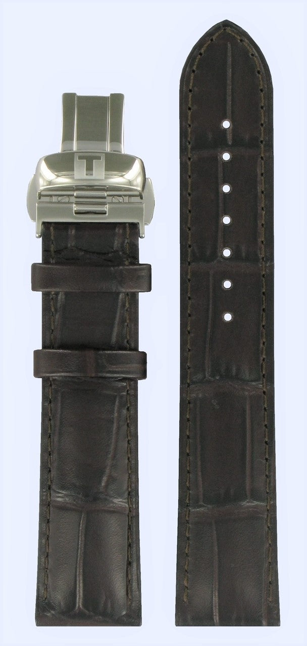 Tissot T-Lord T059528A/ T059507A 20mm Brown Leather Band with Clasp