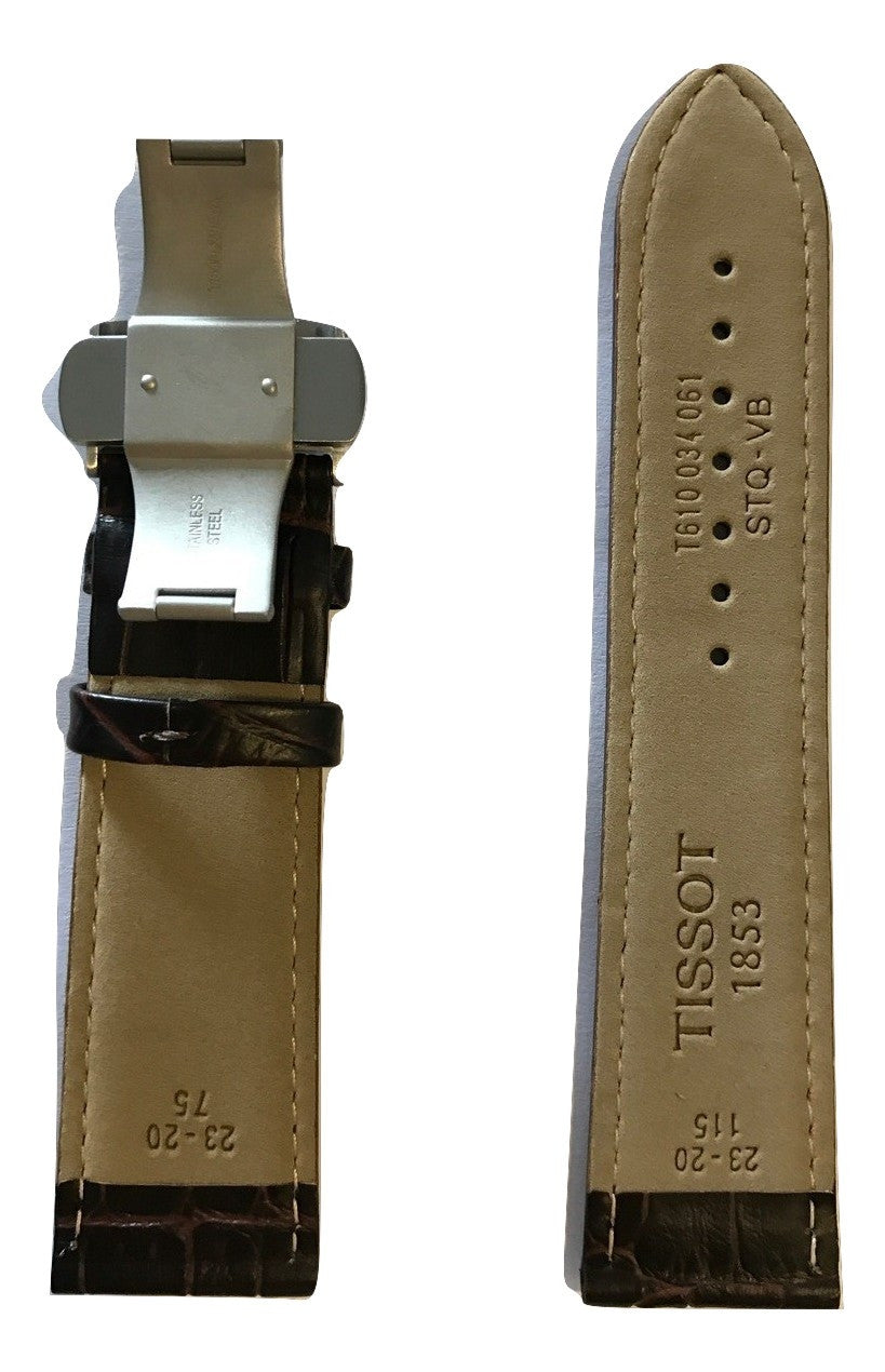 Tissot PRC 200 Brown Leather 23mm Strap Band with Buckle for T055427A - WATCHBAND EXPERT