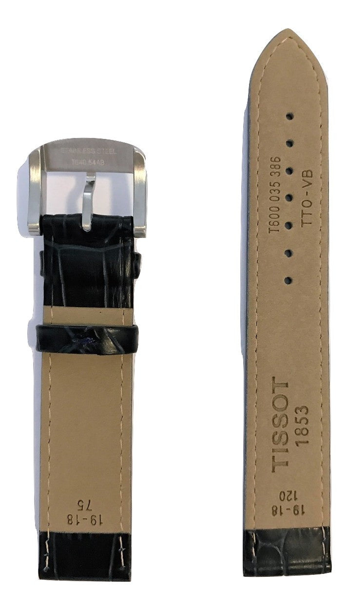 Tissot Quickster Blue Leather 19mm Strap Band for back-case T095417A - WATCHBAND EXPERT