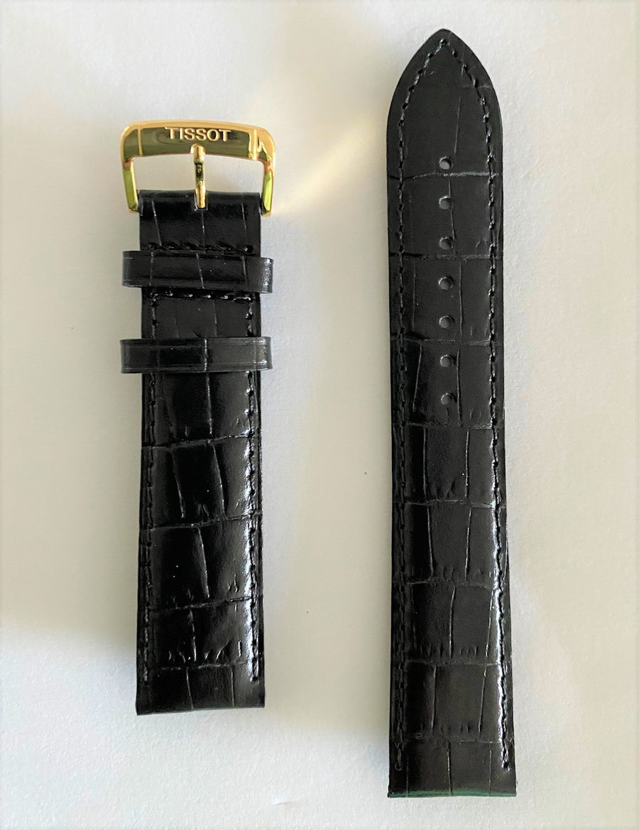 Tissot Goldrun T922410A 20mm Black Leather Watch Band