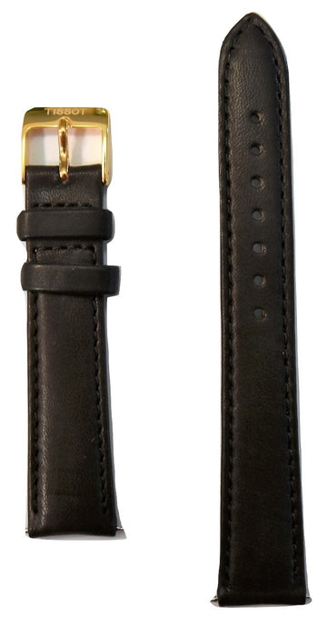 Tissot Women's Bella Ora T103310A Brown Leather Strap Watch Band - WATCHBAND EXPERT