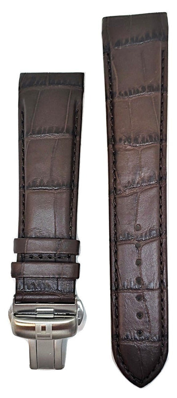 Tissot Couturier 23mm XL (80-130) Brown Leather Band Strap with Clasp - WATCHBAND EXPERT